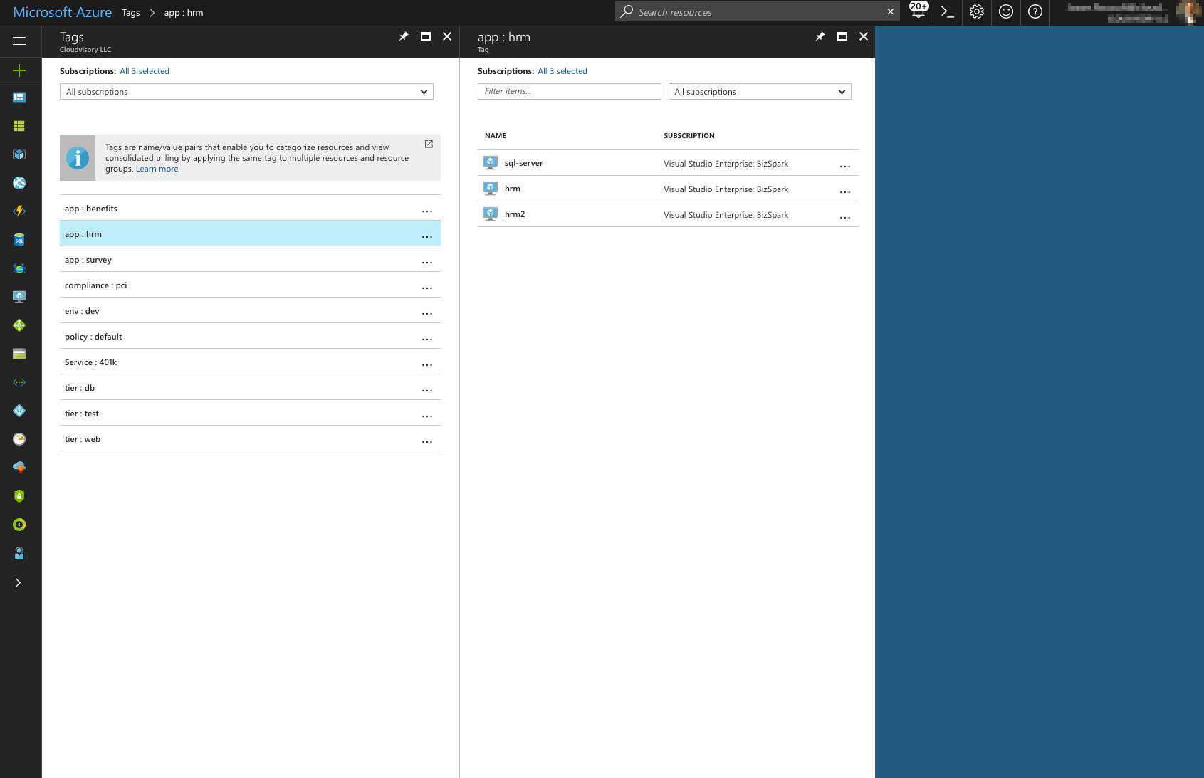 Azure Portal Policy Management